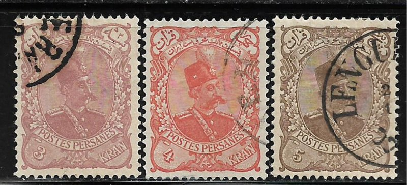 COLLECTION LOT OF #333 IRAN # 147-9 1879 CV=$51
