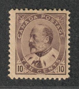 Canada Sc#93 M/H/F-VF, Cv. $450