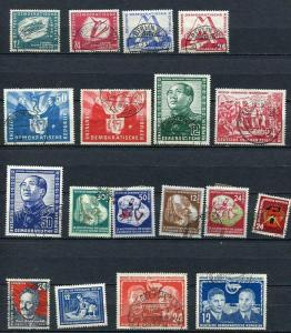 Germany/DDR 1951 Mi 280-297 Complete Year Used CV 391 euro 2470