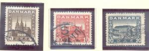 Denmark Sc 156-8 1920 North Schleswig stamp set used