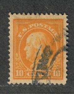 US Sc#416 Used, Superb Jumbo- Tiny Perf Thin