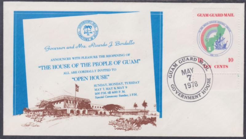 Guam Guard Mail Open House Government House May 7 1978