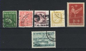 Finland 166B,256,319,357,556,B70 used PD