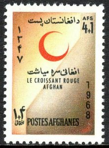 Afghanistan B85, MNH. Red Crescent Society, 1968
