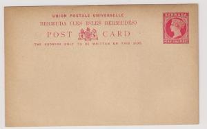 Bermuda QV postal card Mint light toning scarce piece! VF