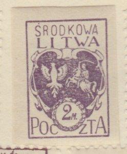 Central Lithuania Mittellitauen Lituanie Lituania 1920 2m MH* A8P11F138