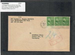 1950 Prexie Cover 1c Washington (3) US Army Postal Service A.P.O. 154