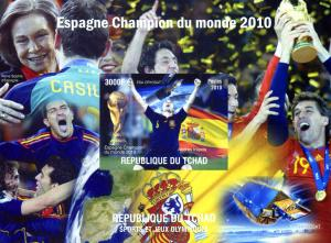 Chad 2010 FIFA Football Spain World Cup s/s Imperforated mnh.vf