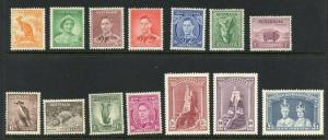 AUSTRALIA  SCOTT#166a,167/70,171a/74a, 175/79 DEFINITIVES  MINT LIGHT  HINGED