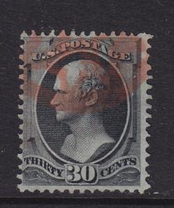 154 used neat fancy Red cancel with nice color cv $ 350 ! see pic !