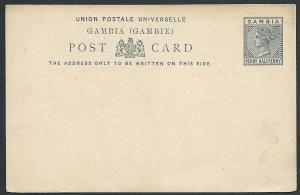 GAMBIA QV 1½d postcard fine unused........................................46944