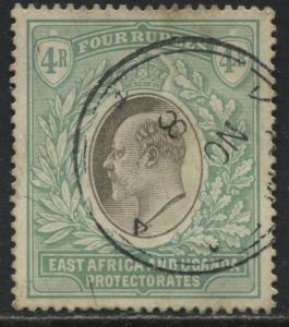 East Africa & Uganda Protectorates KEVII 1904 4 rupees used
