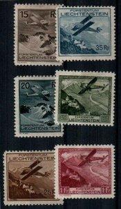 Liechtenstein Scott C1-6 Mint hinged [TE343]