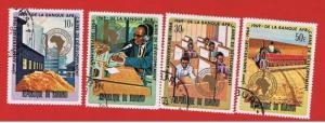 Burundi #288-291 VF used Industry    Free S/H