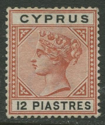 Cyprus - Scott 35 - QV - Definitives -1894 - MNG - Single 12pi Stamp