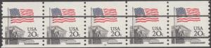 #1895b STRIP OF 5 WITH PLATE #14 BN8636