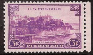 Scott 801   3¢ Puerto Rico Territory MNH Single VF