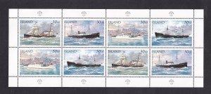 Iceland   #803-806  MNH 1952  sheet  ships