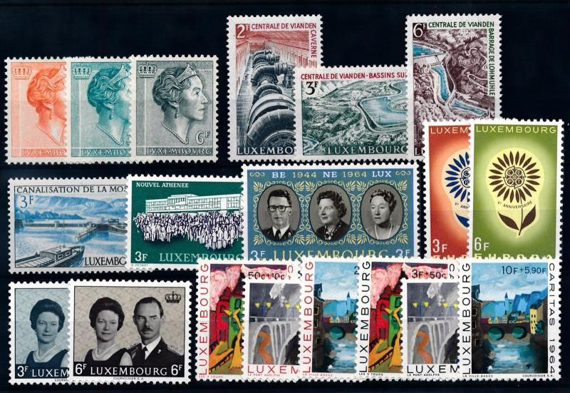 Luxembourg Luxemburg 1964 Complete Year Set  MNH