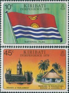 Kiribati 1979 SG84-85 Independence set MLH