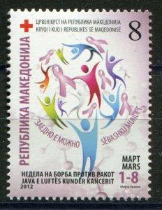 157 - MACEDONIA 2012 - Red Cross - Anti Cancer - MNH Set