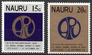 Nauru 14th General Assembly Asian Parliamentary set of 1978 Scott 182-183 MNH