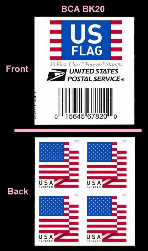 Us 5263 Flag Forever Header Block Bca 4 Stamps From Booklet 20 Mnh - United-states-forever-stamps