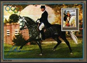 Bolivia 692b Mi Bl.171,MNH-. Olympics Seoul-1988.Equestrian Dr.Joseph Neckermann