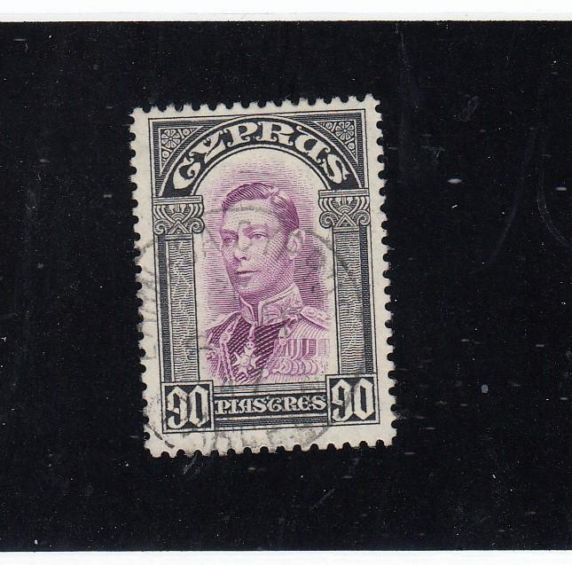 CYPRUS # 154 VF-KGV1 90p LIGHT SON ISSUE