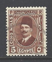 Egypt 135 used wm 195 (DT)