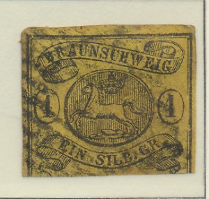 Brunswick (German State) Stamp Scott #8, Used