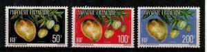 French Polynesia Scott O13-15 Mint NH (Catalog Value $23.00)