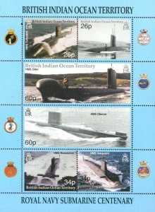 Stamps British Indian Ocean Territories (BIOT) - Dragonflies - Submarines.