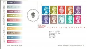 Perspectives on Britain Royal Mail FDC Stamp Show 2000 Exhibition Souvenir Z9332