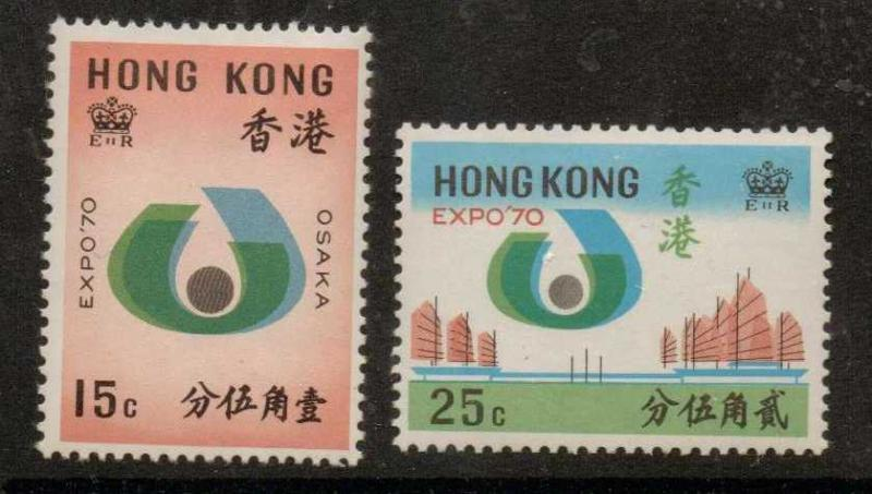 HONG KONG SG263/4 1970 WORLD FAIR OSAKA MNH