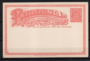 Rhodesia BSAC 1d Postal Stationery Card fine unused WS22516