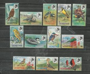 Lesotho Scott catalogue # 321-332 Unused Hinged