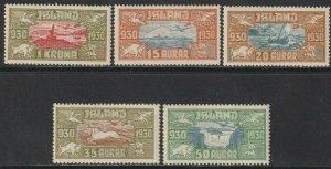 Sc# C4 / C8 Iceland 1930 Icelandic scenes airmail complete set MNH CV $510.00