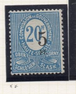 Silesia 1920 Early Issue Fine Mint Hinged 5pf. Surcharged 215624