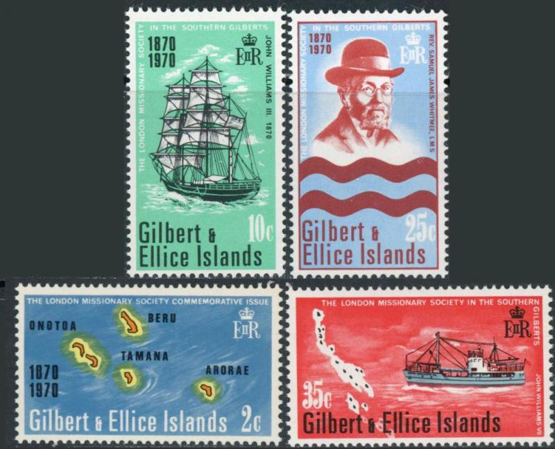 Gilbert and Ellice Islands #166-169 London Missionary Society MNH