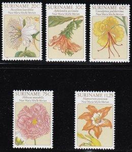 1981 Suriname - Yvert N°809/813 Series Di 5 Values MNH