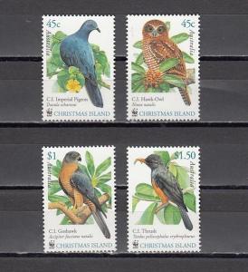 Christmas Island, Scott cat. 437-439. Birds & Owl on W.W.F. issue.