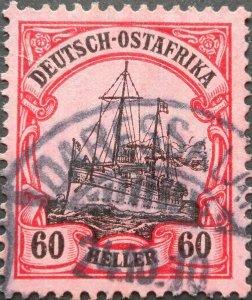 German East Africa 1905 Sixty Heller with DAR ES SALAAM postmark Michel 37