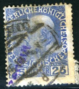 AUSTRIA OFFICES IN CRETE - SC #18 - USED FAULT - 1908 - AustOFF008