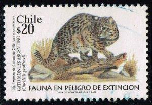 Chile #1395 Geoffroy's Cat; Used (5Stars)