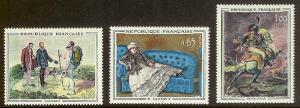 FRANCE Sc#1049-1051 Mint Never Hinged Set