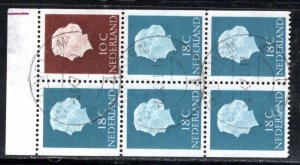 Netherlands Scott # 344a, booklet pane, used