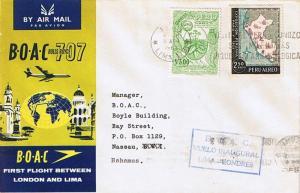 Peru 2.50S Peruvian Exhibition in Paris and 3S Tobacco Plant 1961 Peru, Lima ...