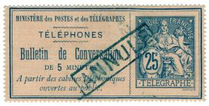 (I.B) France Telegraphs : Bulletin de Conversation 25c (1885)