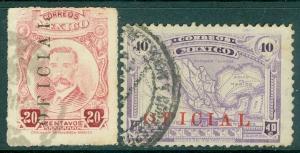 MEXICO : 1919. Scott #O129, 132. Both Very Fine, Used. Catalog $82.00.
